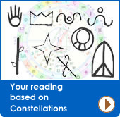 Get your reading based on cosntellations